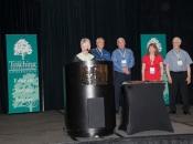 Maryellen Weimer presents award on June 1, 2013.