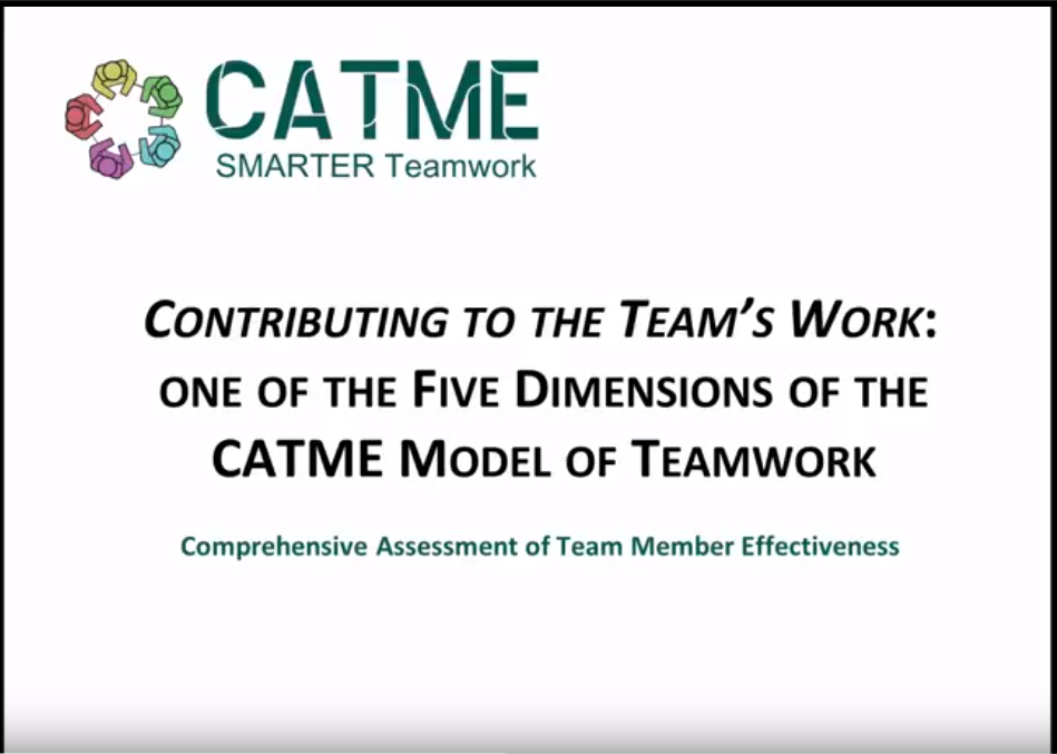 Teamwork Training - CATME